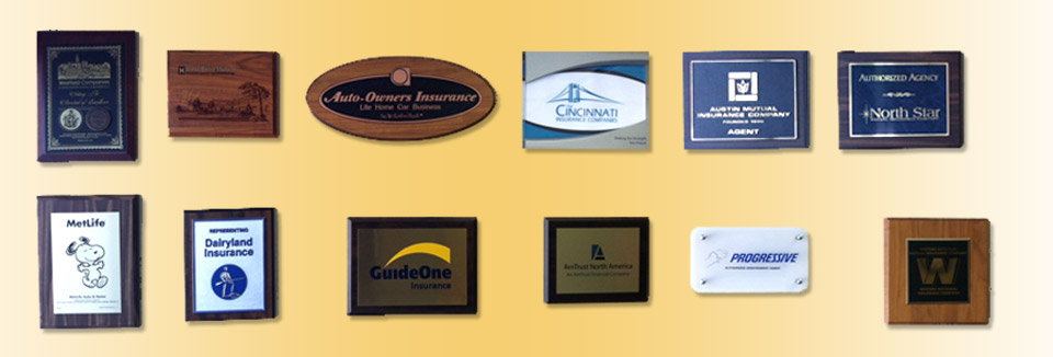 Grouping of Awards & Plaques Presented to Heinz Insurance Agency