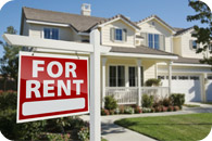 Home with a For Rent sign | Renters Insurance